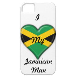 """I Love My Jamaican Man"" Phone Case: Flag Heart iPhone 5 Case"
