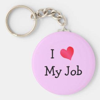 I Love My Job Pink Keychain