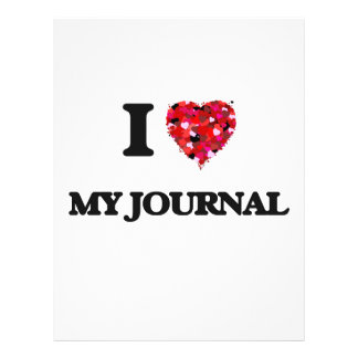 I Love My Journal Flyer Design