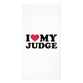 I love my Judge Photo Card Template