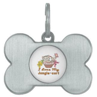 I Love My Jungle-curl Pet Name Tag