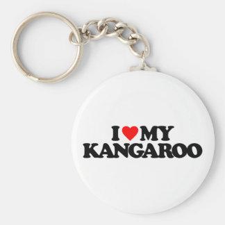 I LOVE MY KANGAROO BASIC ROUND BUTTON KEYCHAIN