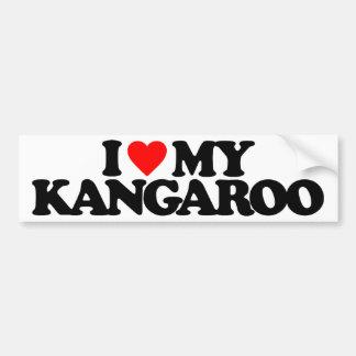 I LOVE MY KANGAROO BUMPER STICKER