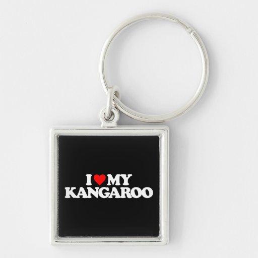 I LOVE MY KANGAROO KEYCHAINS