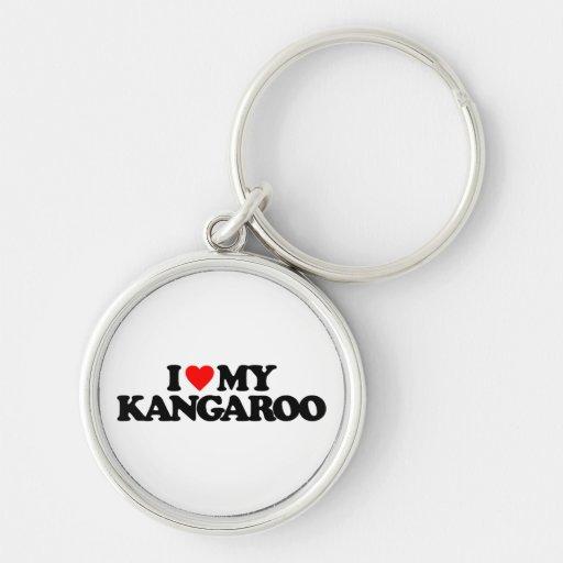I LOVE MY KANGAROO KEYCHAIN
