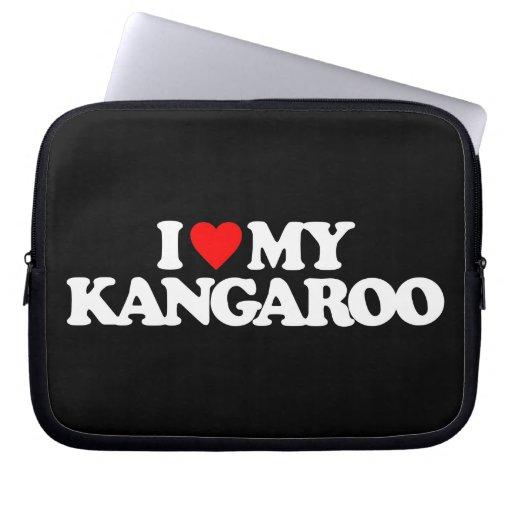 I LOVE MY KANGAROO LAPTOP COMPUTER SLEEVES