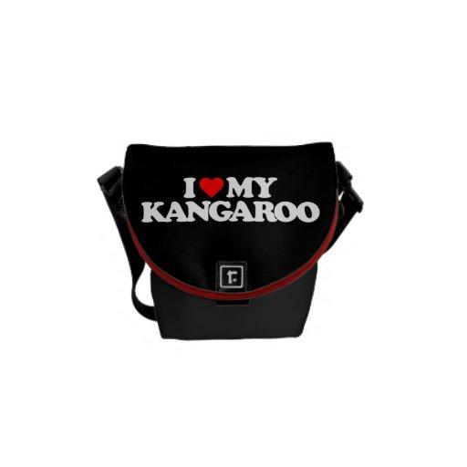 I LOVE MY KANGAROO COURIER BAGS