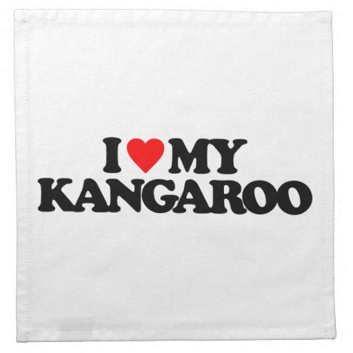 I LOVE MY KANGAROO NAPKIN