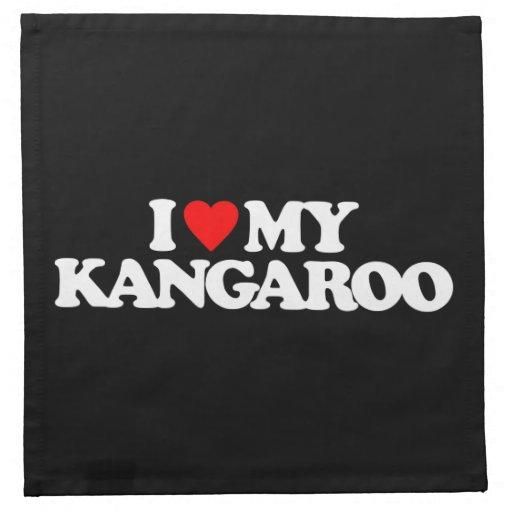 I LOVE MY KANGAROO PRINTED NAPKINS