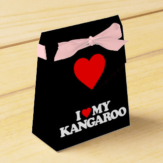 I LOVE MY KANGAROO PARTY FAVOR BOXES