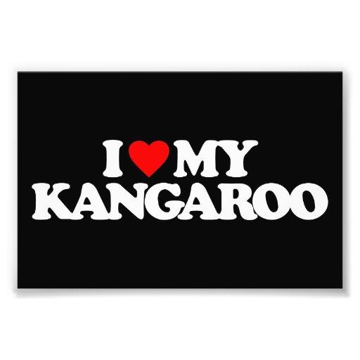 I LOVE MY KANGAROO ART PHOTO
