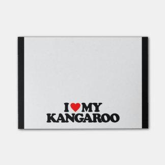 I LOVE MY KANGAROO POST-IT® NOTES