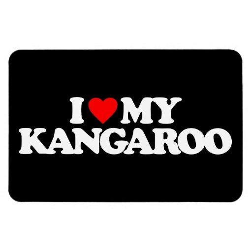 I LOVE MY KANGAROO RECTANGLE MAGNETS