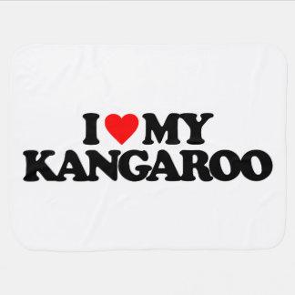 I LOVE MY KANGAROO STROLLER BLANKET