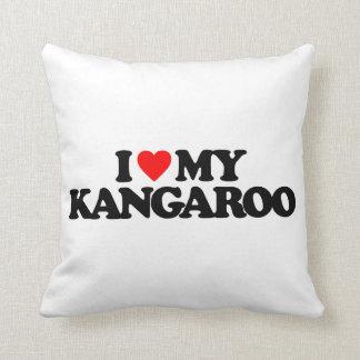 I LOVE MY KANGAROO THROW PILLOW