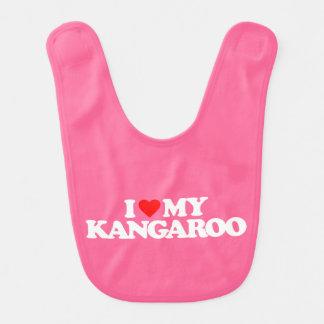 I LOVE MY KANGAROO BABY BIB