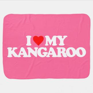I LOVE MY KANGAROO BABY BLANKET