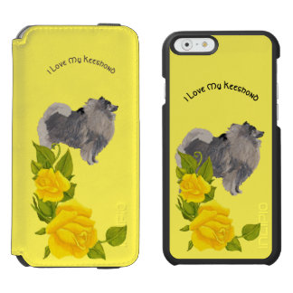 I Love My Keeshond and Yellow Roses Incipio Watson™ iPhone 6 Wallet Case