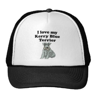 I Love My Kerry Blue Terrier Hats