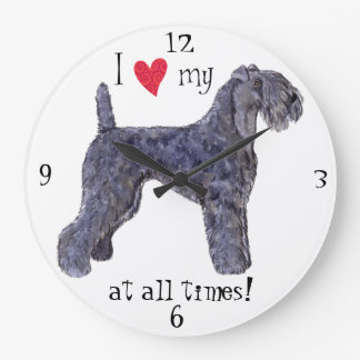 I Love my Kerry Blue Terrier Wall Clock