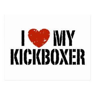 I Love My Kickboxer Postcard