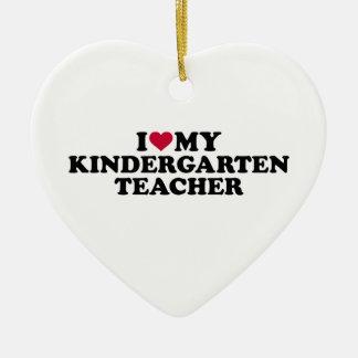 I love my kindergarten teacher ceramic ornament
