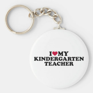 I love my kindergarten teacher keychain