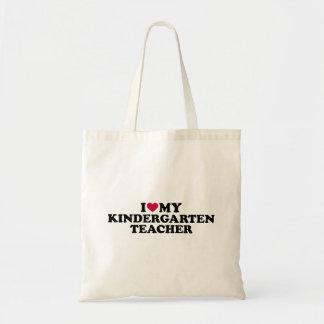 I love my kindergarten teacher tote bag