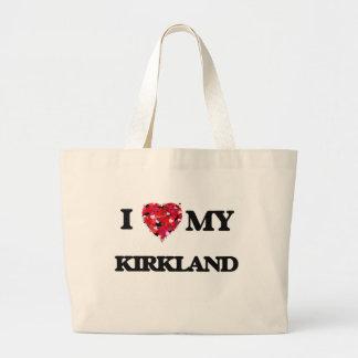 I Love MY Kirkland Jumbo Tote Bag