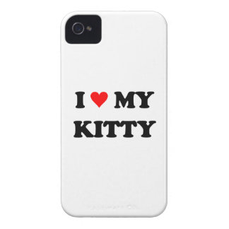 I Love My Kitty iPhone 4 Cases