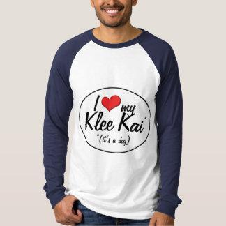 I Love My Klee Kai (It's a Dog) T-Shirt