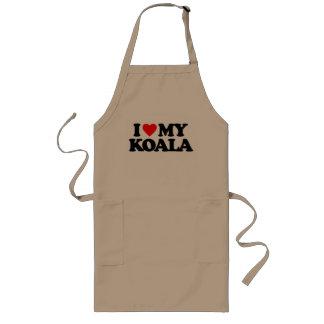 I LOVE MY KOALA LONG APRON