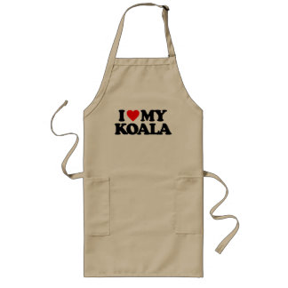 I LOVE MY KOALA LONG APRON