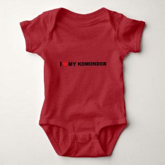 i love my komondor baby bodysuit