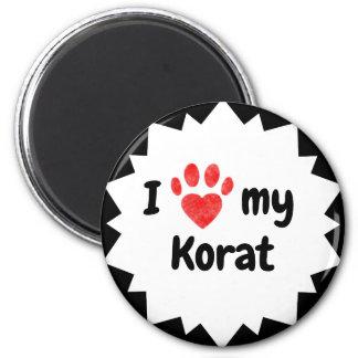 I Love My Korat Cat Magnet