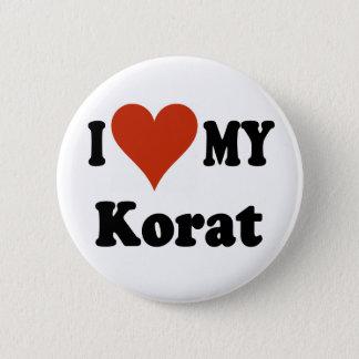 I Love My Korat Cat Merchandise 2 Inch Round Button