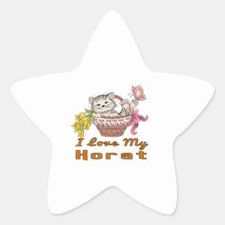 I Love My Korat Star Sticker