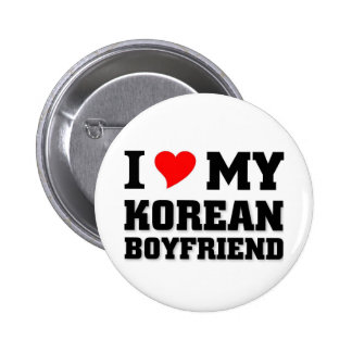 I love my Korean Boyfriend 2 Inch Round Button