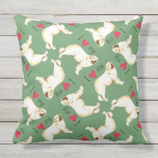 I Love my Kuvasz Throw Pillow