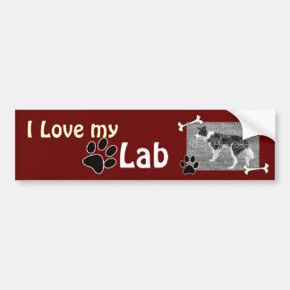 I love my Lab Bumper Sticker