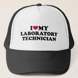 I love my laboratory technician trucker hat