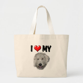 I Love My Labradoodle Bags