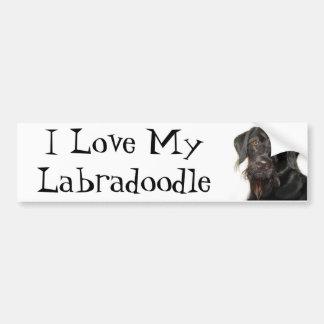 I Love My Labradoodle Bumper Sticker