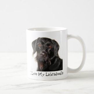 I Love My Labradoodle Classic White Coffee Mug