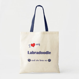 I Love My Labradoodle (Female Dog) Bags