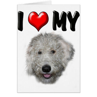 I Love My Labradoodle Greeting Card