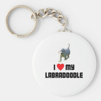 I Love My Labradoodle Key Chain