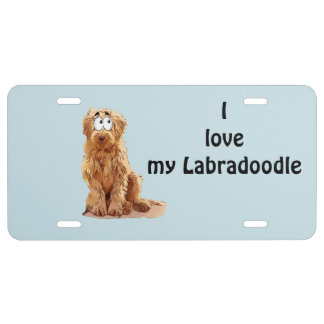 I love my Labradoodle License Plate