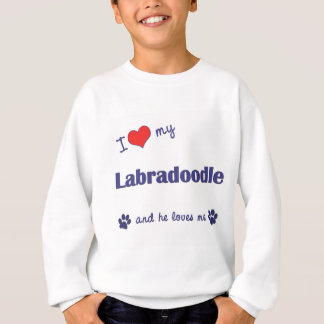 I Love My Labradoodle (Male Dog) Sweatshirt