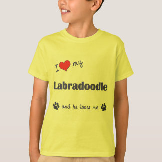 I Love My Labradoodle (Male Dog) T-Shirt